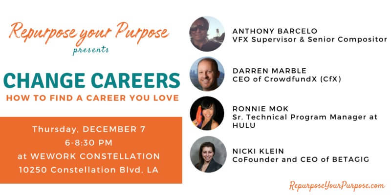 CHANGE CAREERS: Panel Discussion + Interactive Group Discussion