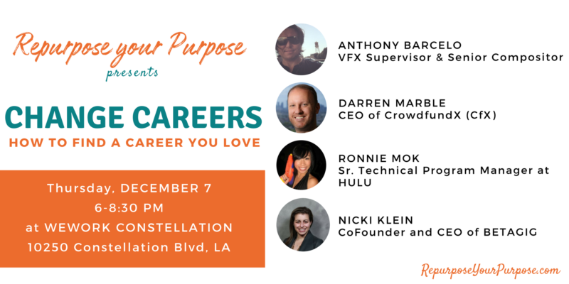 change careers a special panel discussion and event in los angeles
