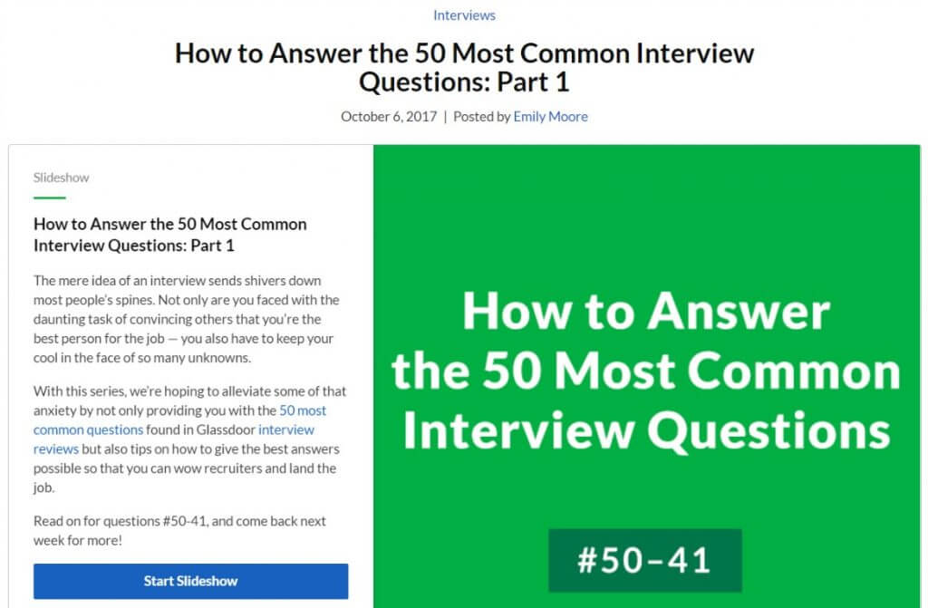 How to Answer the 50 Most Common Interview Questions Parts One through Three